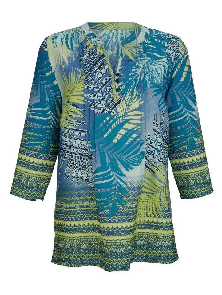 Dress In Tunika in modischem Druckdessin | Bekleidung > Tuniken > Sonstige Tuniken | Grün | Polyester | Dress In