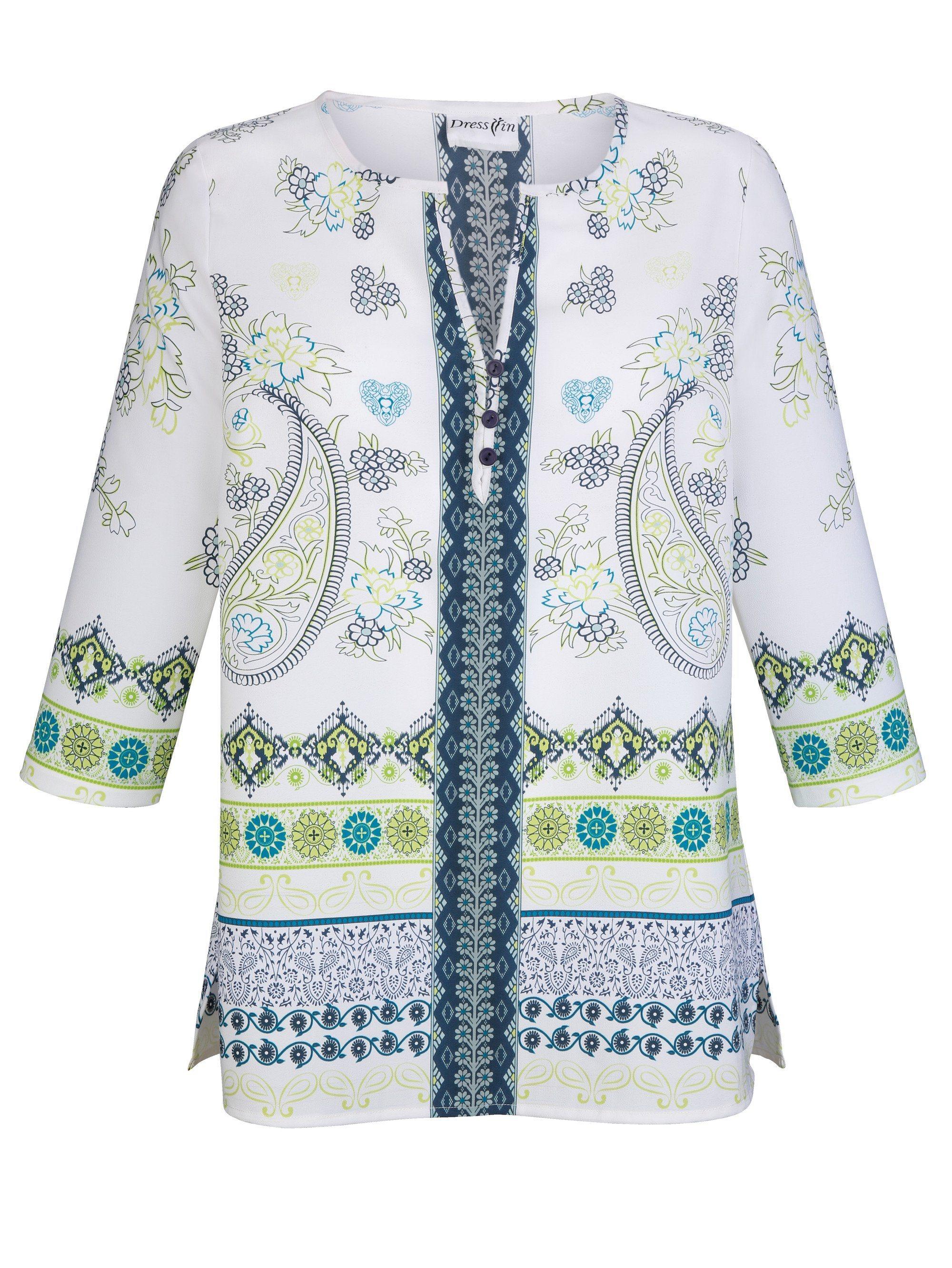 Dress In Tunika mit modischen Druckdessin rundum | Bekleidung > Tuniken > Sonstige Tuniken | Polyester | Dress In