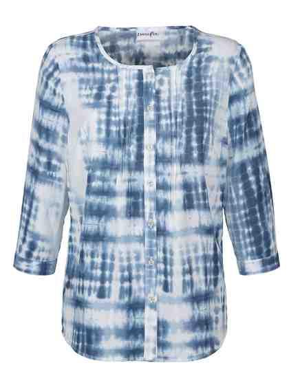 Dress In Bluse im Batik-Look