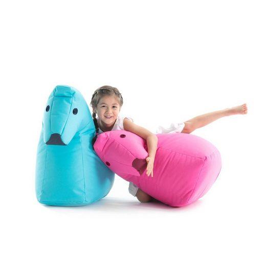 THE ORIGINAL SITTING BULL Sitzsack Pferd LOTTE Happy Zoo, blau