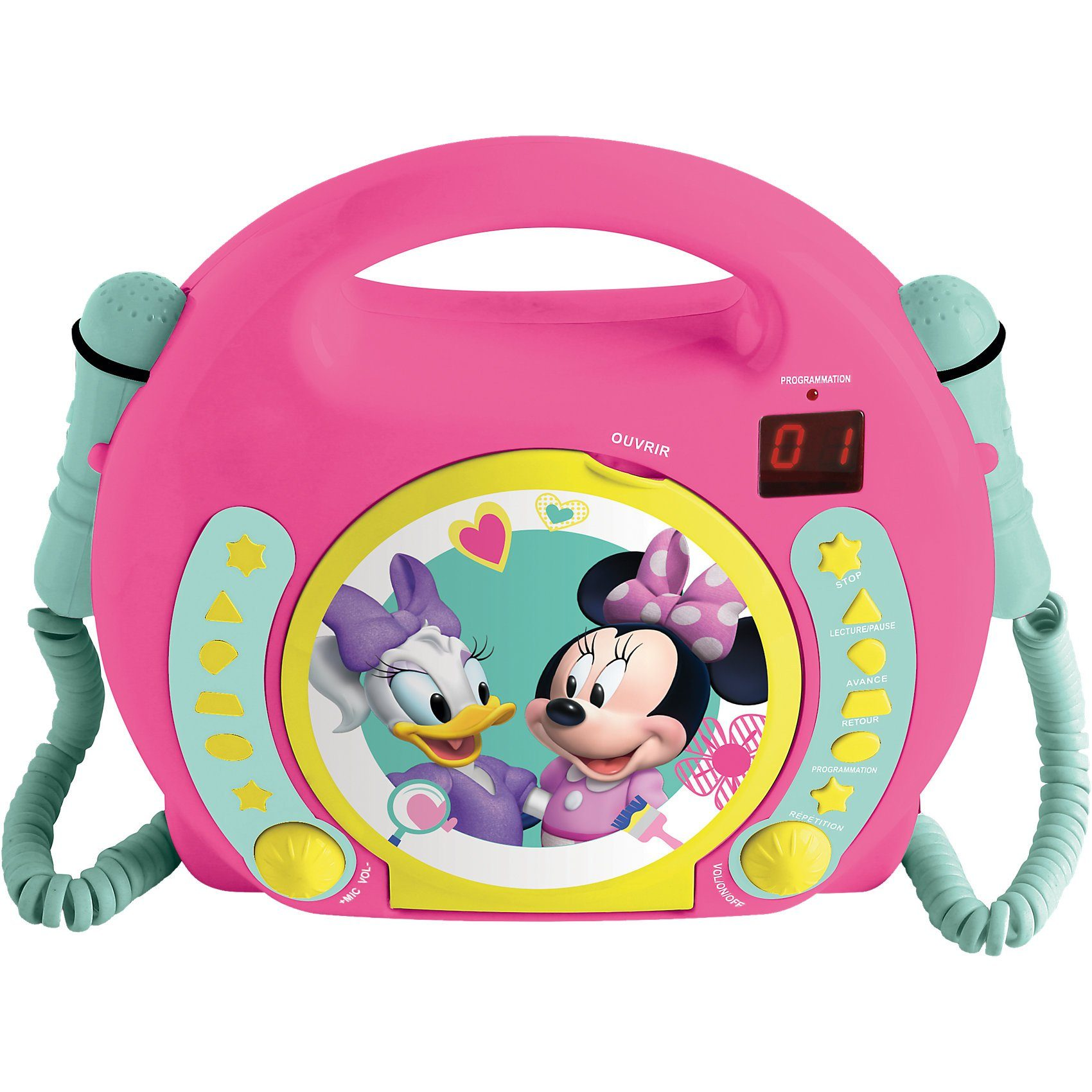 LEXIBOOK Minnie Kinder CD-Player mit 2 Mikrofonen
