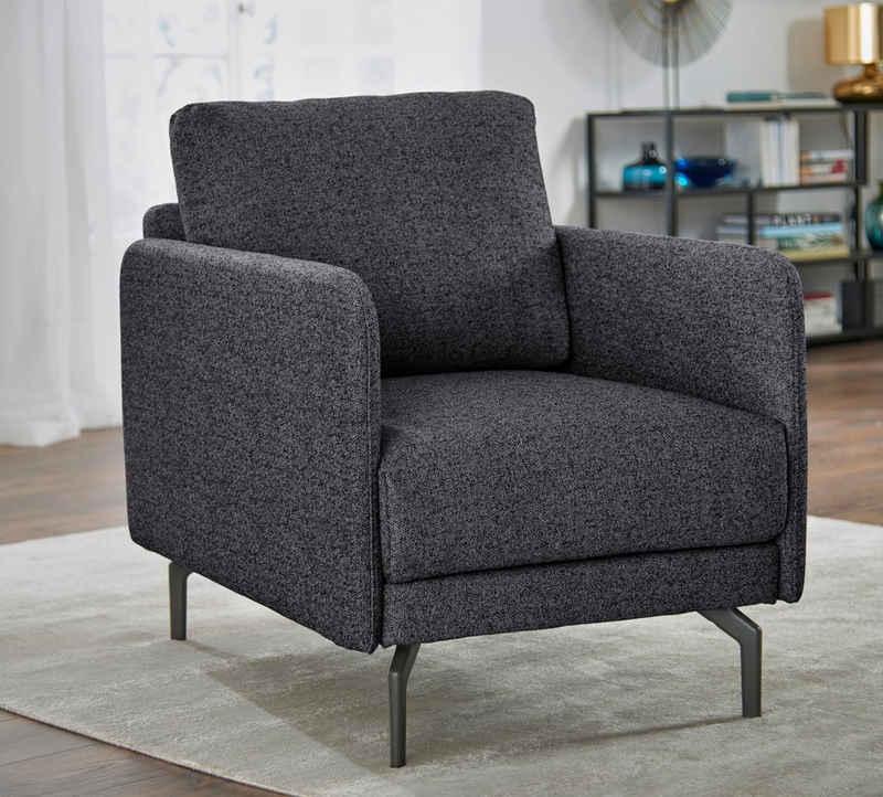 hülsta sofa Sessel »hs.450«, Armlehne sehr schmal, Breite 70 cm, Alugussfuß Umbragrau, wahlweise Stoff oder Leder