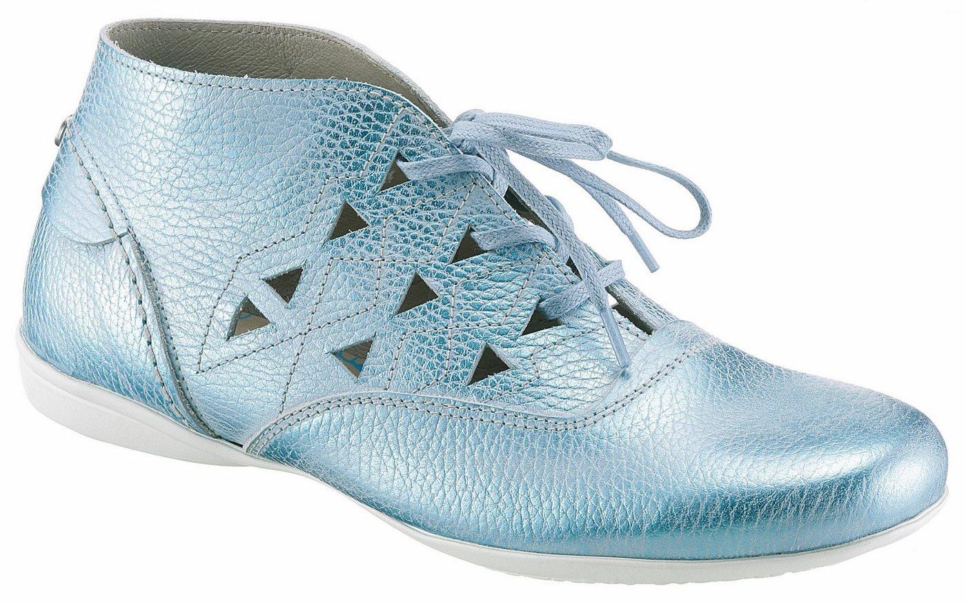 DKODE »Flick« Sommerboots mit dezenten Lasercut | Schuhe > Boots > Sommerboots | Blau | Leder - Jeans | DKODE