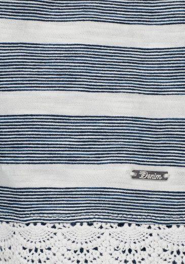 Tom Tailor Denim T-Shirt, mit Spitzendetails