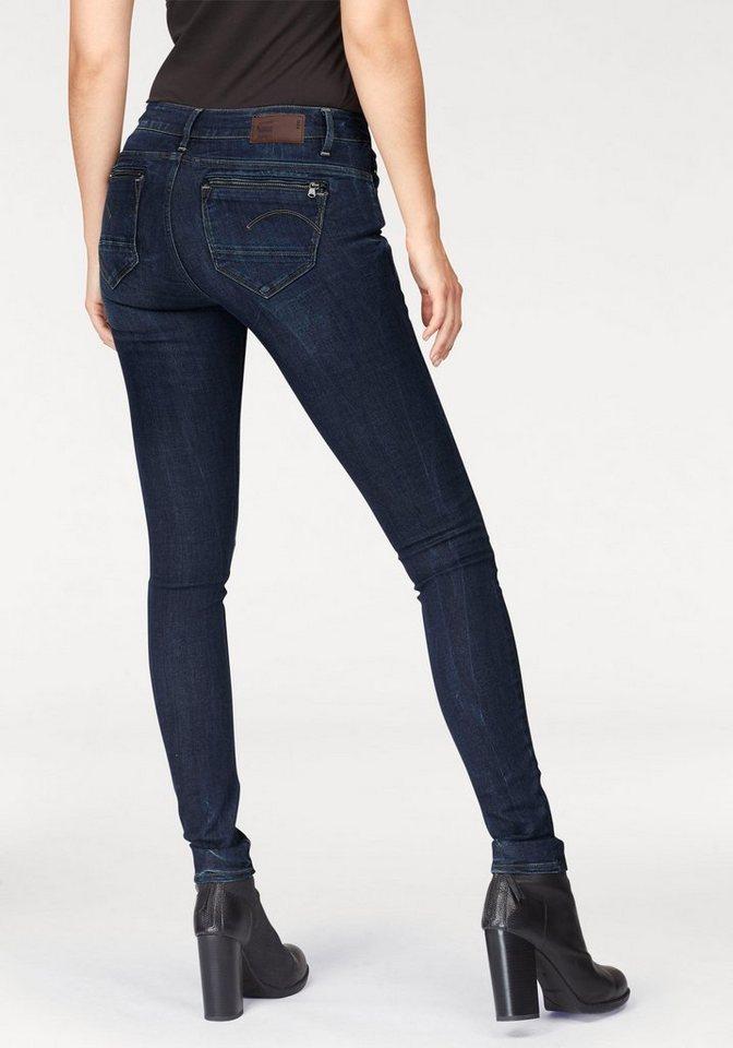 g star skinny fit jeans midge zip mit rei verschluss. Black Bedroom Furniture Sets. Home Design Ideas