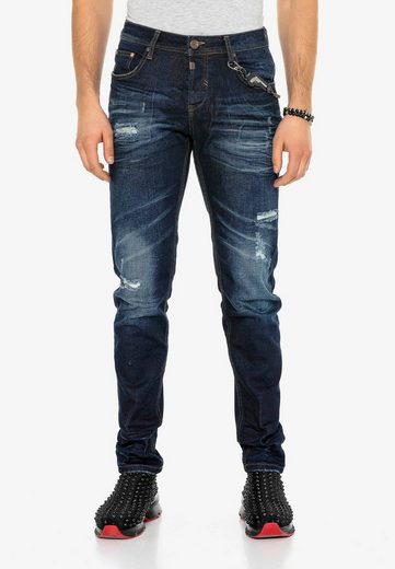 Cipo & Baxx Slim-fit-Jeans »Heartbeat« im Used Look