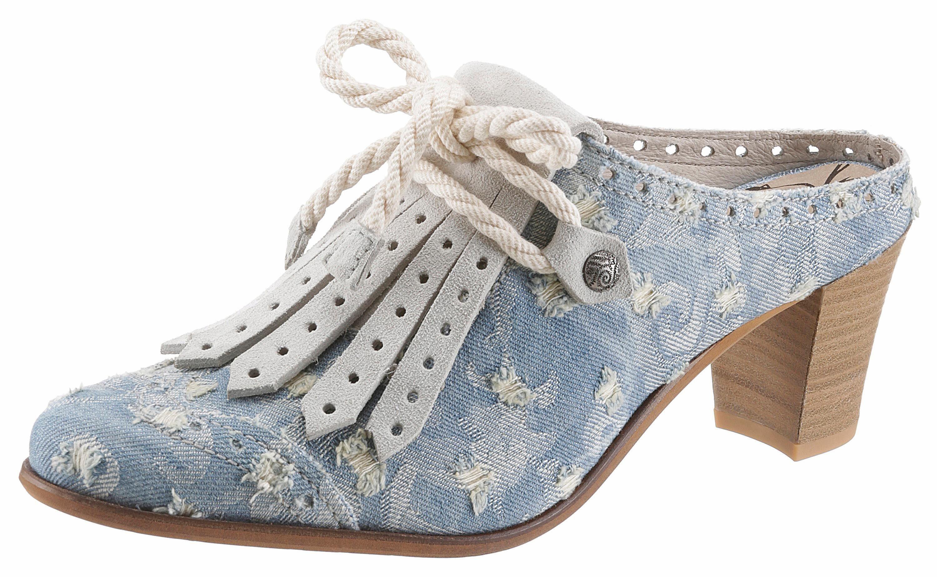 DKODE »Velma« Clog, jeans in toller used Optik, blau, EURO-Größen, jeansblau-taupe
