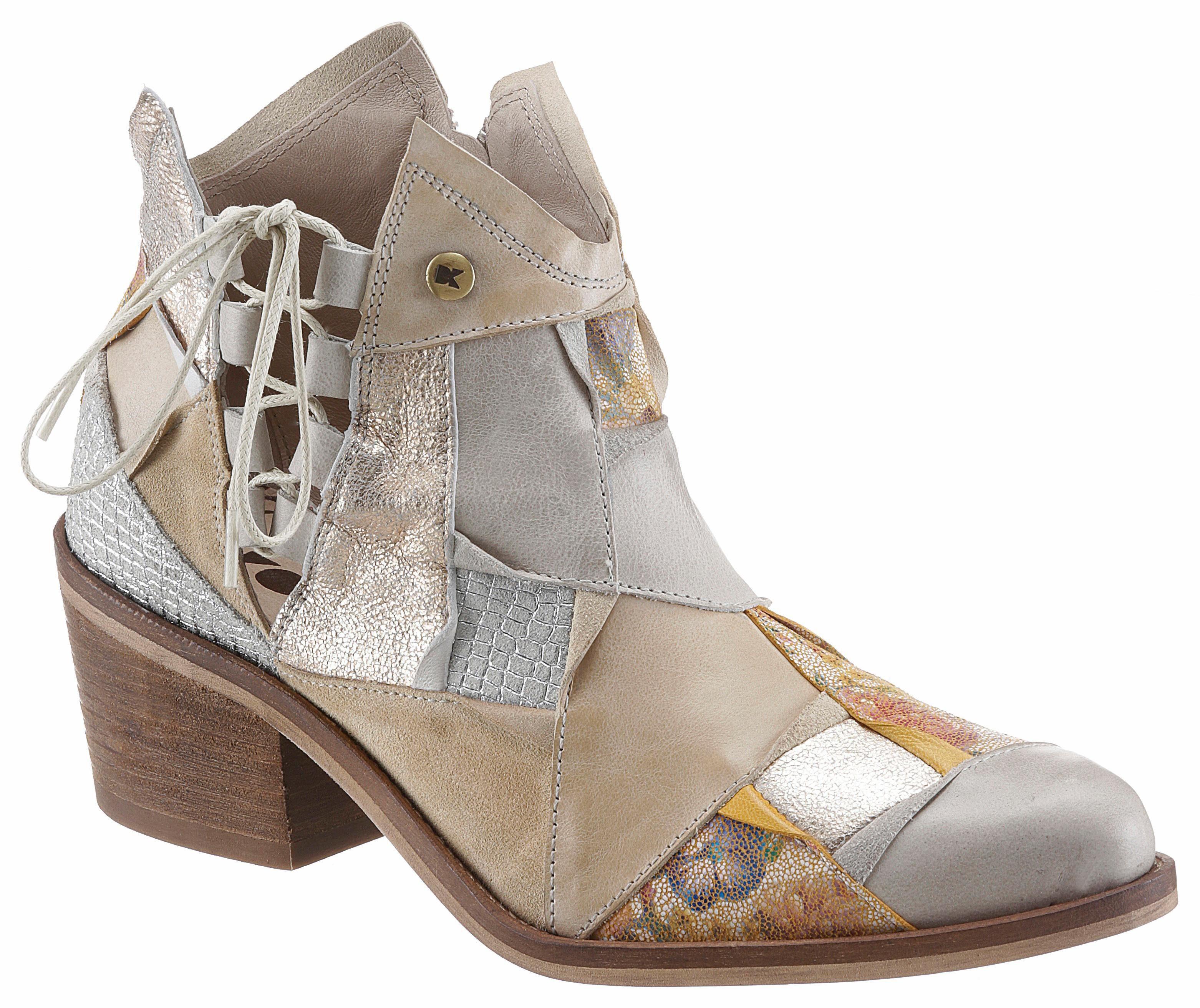 DKODE Jolene Cowboy Stiefelette, mit schönen Metallic-Details online kaufen  taupe-multi