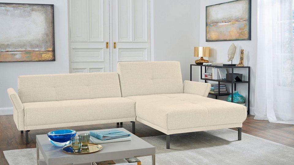 hülsta sofa Ecksofa »hs.410«, mit verstellbaren Arm- und Rückenlehnen  online kaufen | OTTO