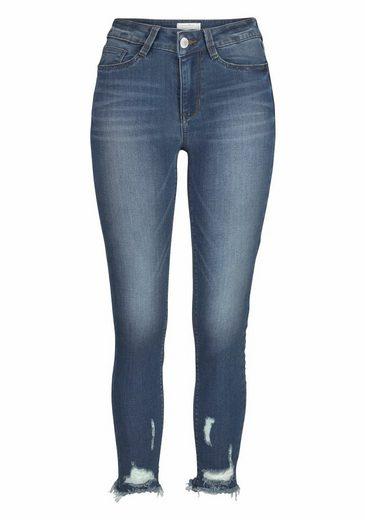 Tom Tailor Denim Skinny-fit-Jeans Nela, mit ausgefranstem Saum