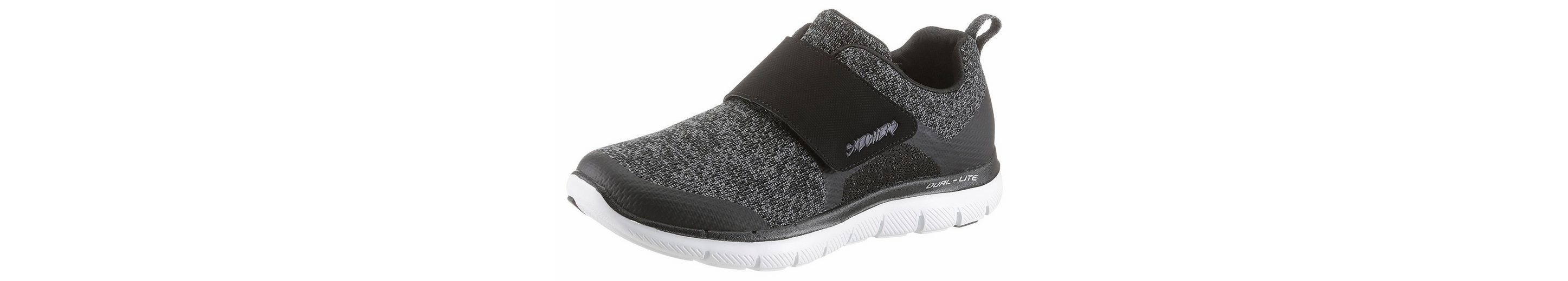 Skechers Flex Appeal 2.0 Step Forward Slipper, mit Klettverschluss