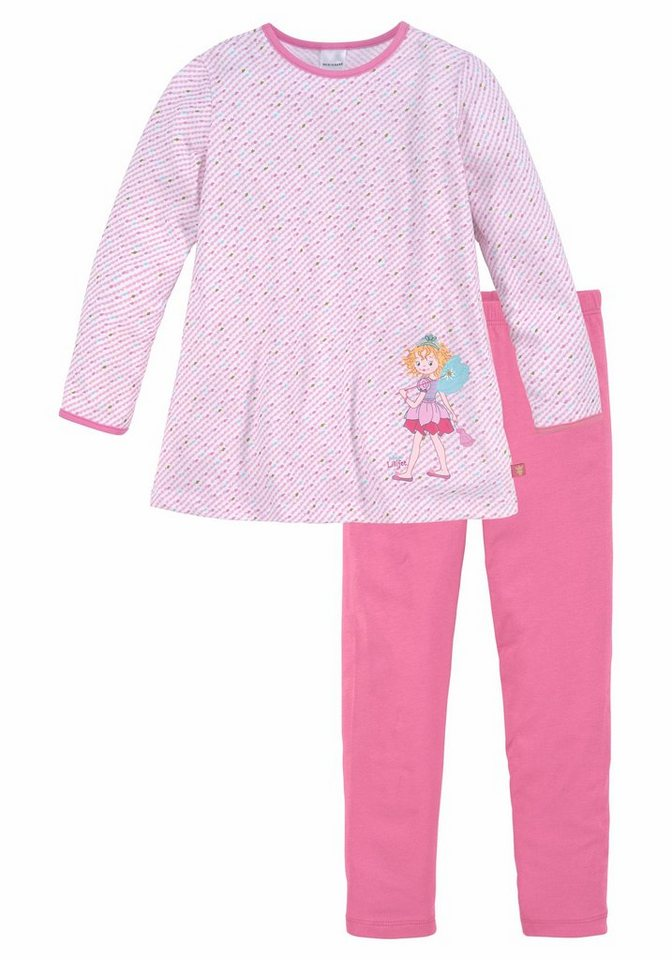 2faa237c57f47 Prinzessin Lillifee Mädchen Pyjama lang mit Druck