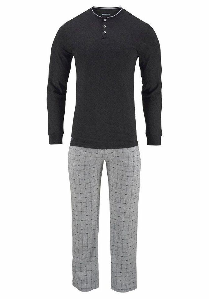 lacoste pyjama lang mit logo karo hose kaufen otto  gr��e s