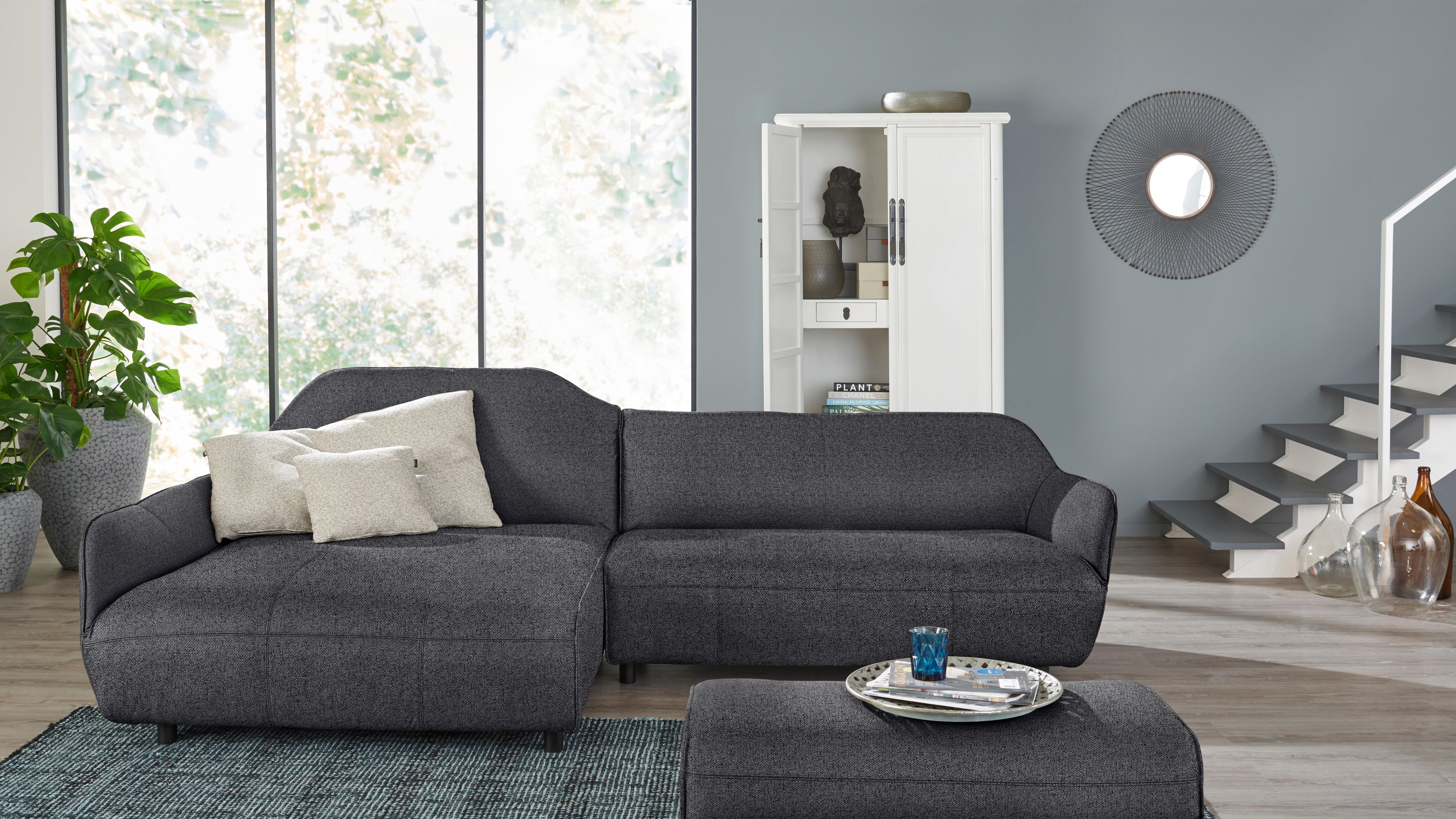Hülsta Sofa Ecksofa »hs.480«, Designsofa wahlweise in Stoff oder Leder