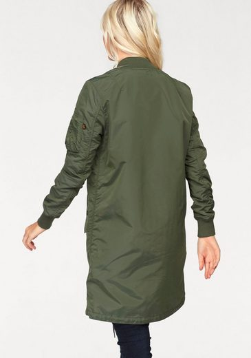 Alpha Industries Langjacke MA-1 TT Coat Wmn, in angesagter Longform