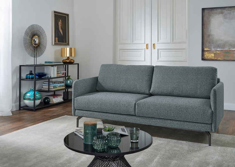 hülsta sofa 3-Sitzer »hs.450«, Armlehne sehr schmal, Breite 190 cm, Alugussfuß Umbragrau, wahlweise Stoff oder Leder