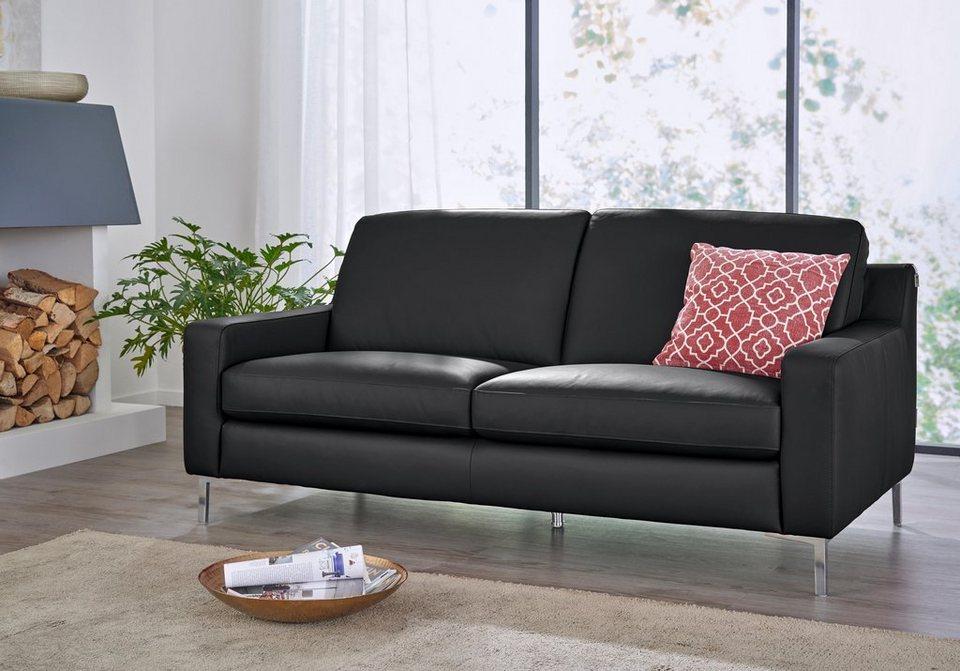 Ledersofa schwarz 3 sitzer  W.SCHILLIG 3-Sitzer Ledersofa »lazy« online kaufen | OTTO