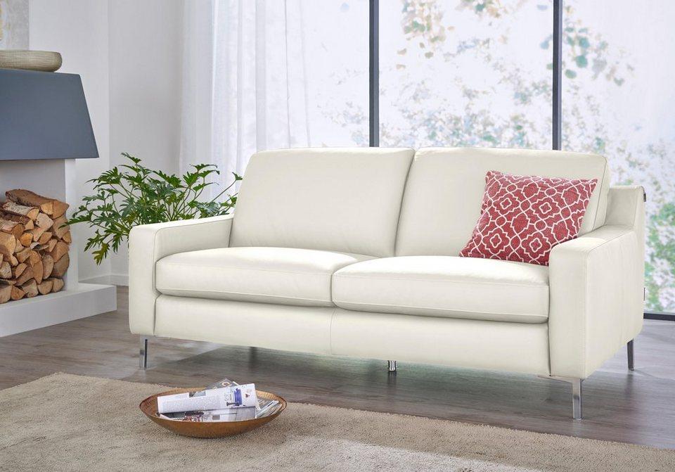 W.SCHILLIG 3-Sitzer Ledersofa »lazy« online kaufen | OTTO