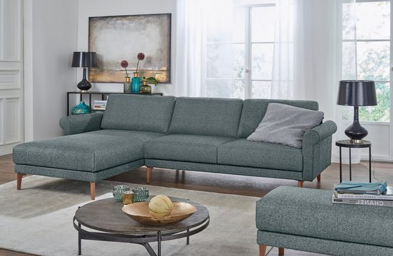 hülsta sofa Ecksofa »hs.450«, im modernen Landhausstil, Breite 282 cm