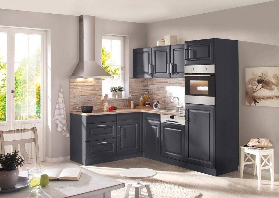 held m bel k chenzeile mit e ger ten stockholm breite 230 x 170 cm wahlweise auch mit. Black Bedroom Furniture Sets. Home Design Ideas