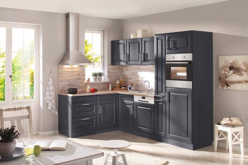 held m bel k chenzeile mit e ger ten stockholm breite 260 x 170 cm online kaufen otto. Black Bedroom Furniture Sets. Home Design Ideas