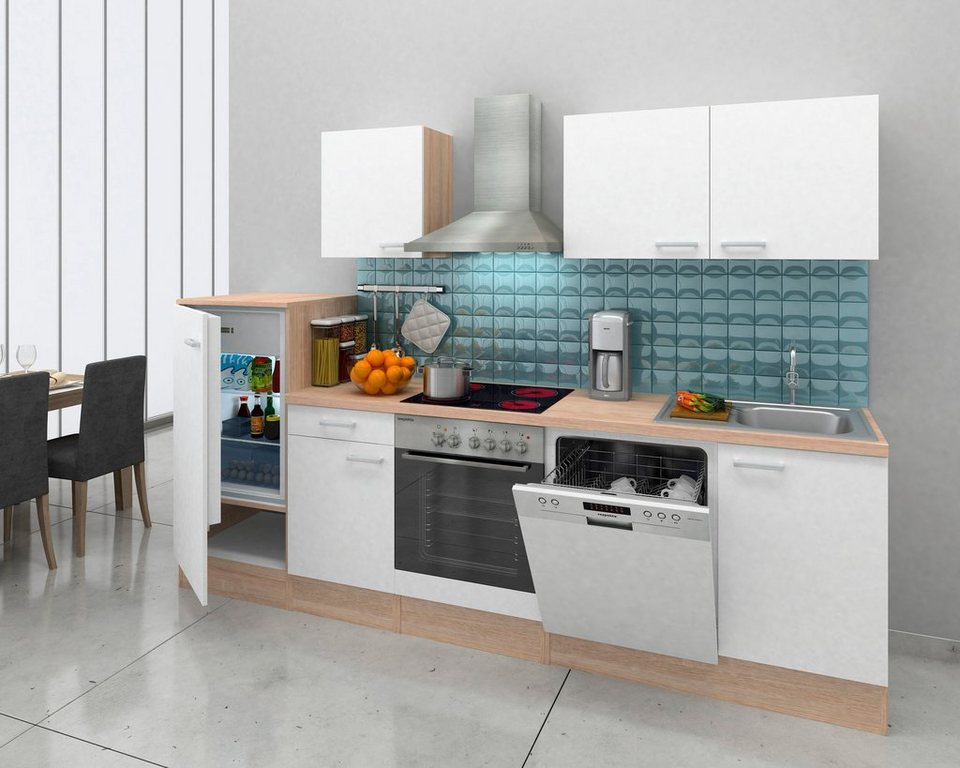 respekta k chenzeile mit e ger ten breite 280 cm korpus. Black Bedroom Furniture Sets. Home Design Ideas