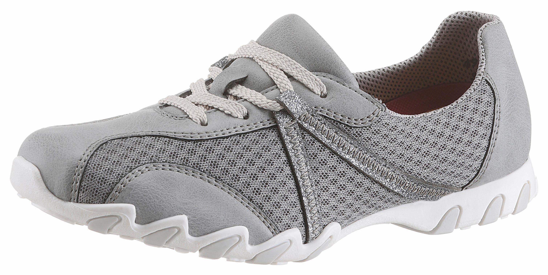 Rieker Sneaker, seitlich mit Metallic verziert  grau