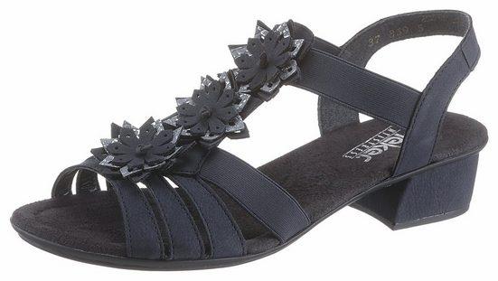 Rieker Sandalette mit Blüten besetzt