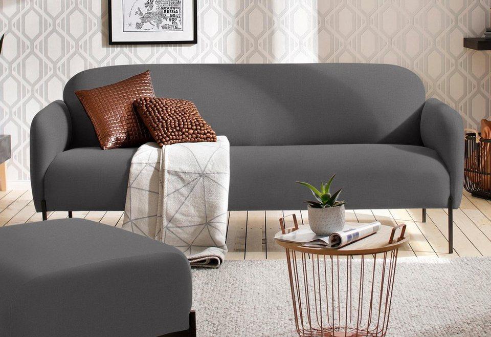 Andas 3 Sitzer Bold Edles Skandinavisches Design Mit Stahlbeinen Online Kaufen Otto