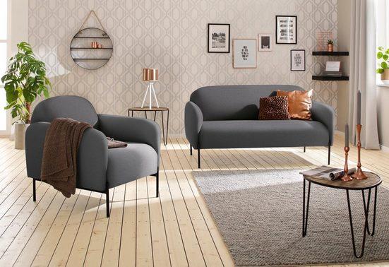 andas Sessel »Bold«  edles  skandinavisches Design  mit Stahlbeinen