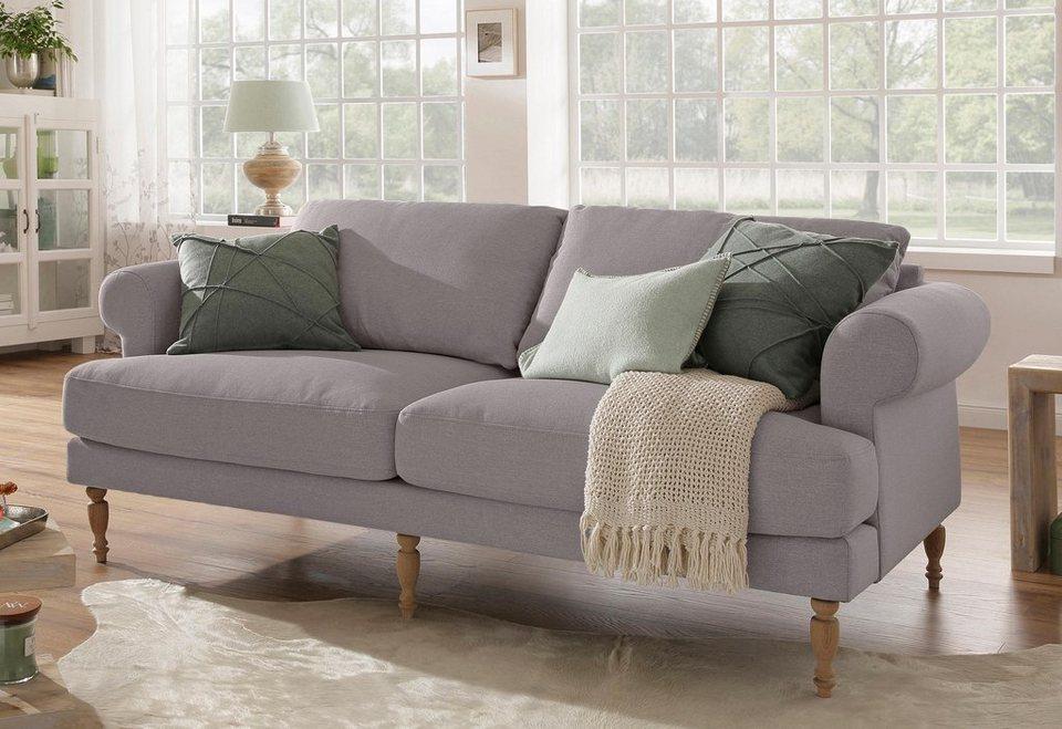 home affaire 2 sitzer lex gedrechselte holzf e 3 qualit ten lose kissen online kaufen otto. Black Bedroom Furniture Sets. Home Design Ideas