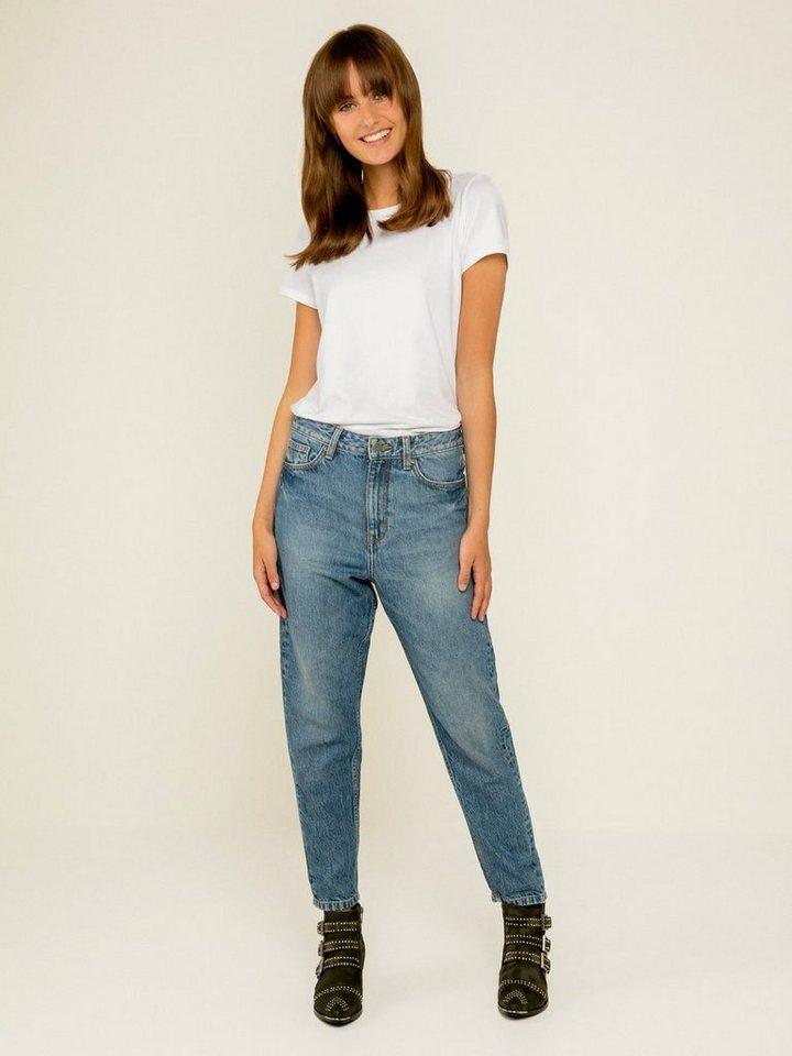 pieces high waist mom jeans online kaufen otto. Black Bedroom Furniture Sets. Home Design Ideas