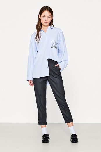 Edc By Esprit Cropped Flanell-hose Mit Stretch