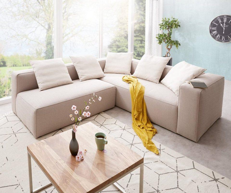 delife eckcouch oceana beige 250x245 cm kubisch otto. Black Bedroom Furniture Sets. Home Design Ideas