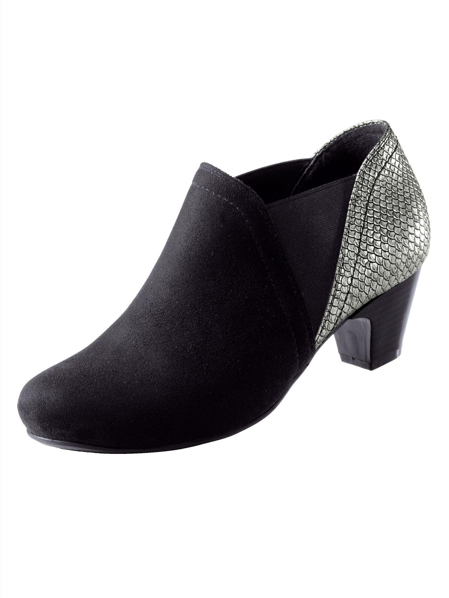 Liva Loop Ankle Boot im harmonischen Materialmix  schwarz#ft5_slash#silber