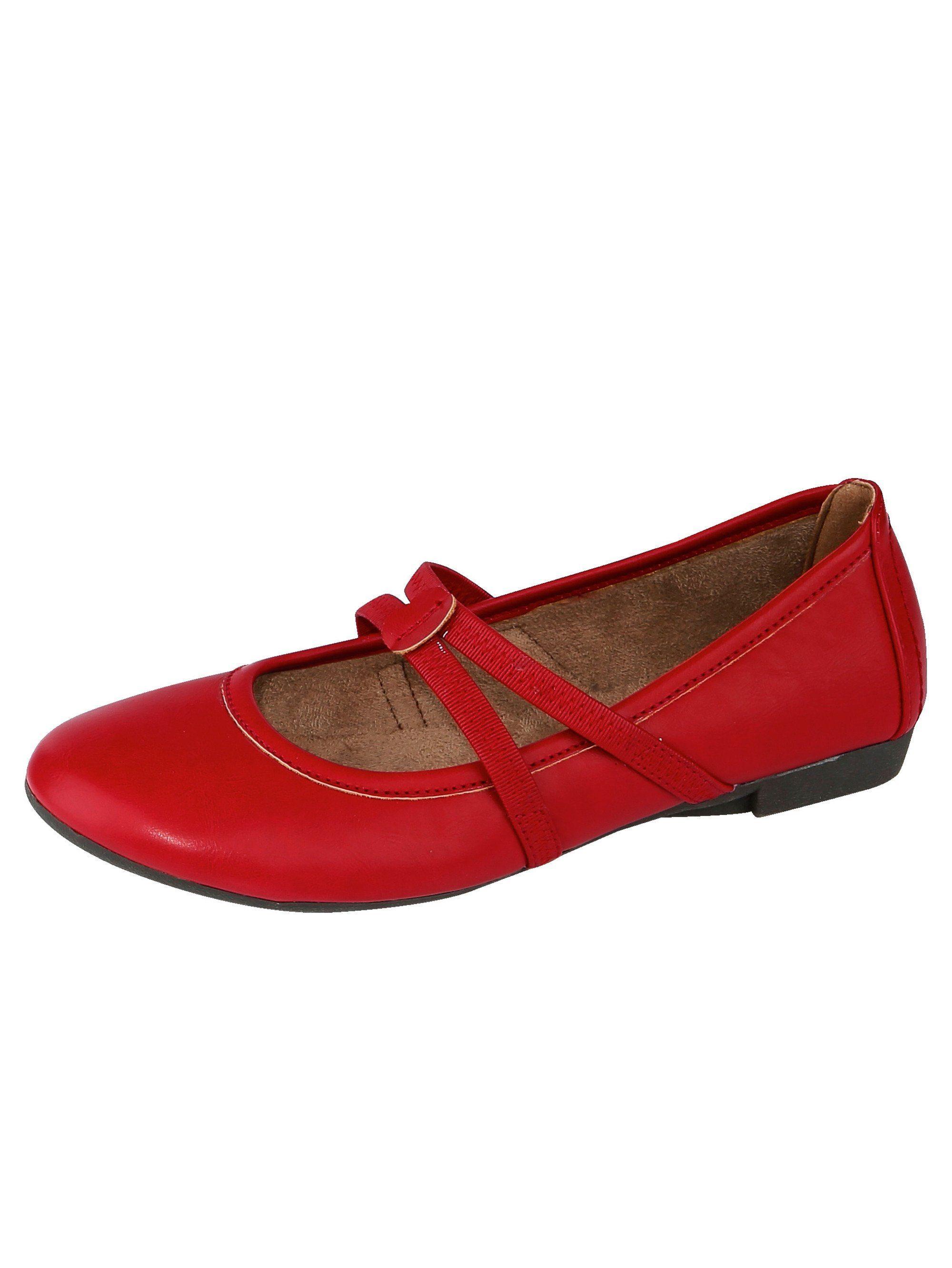 Liva Loop Ballerina mit elastischen Riemchen  rot