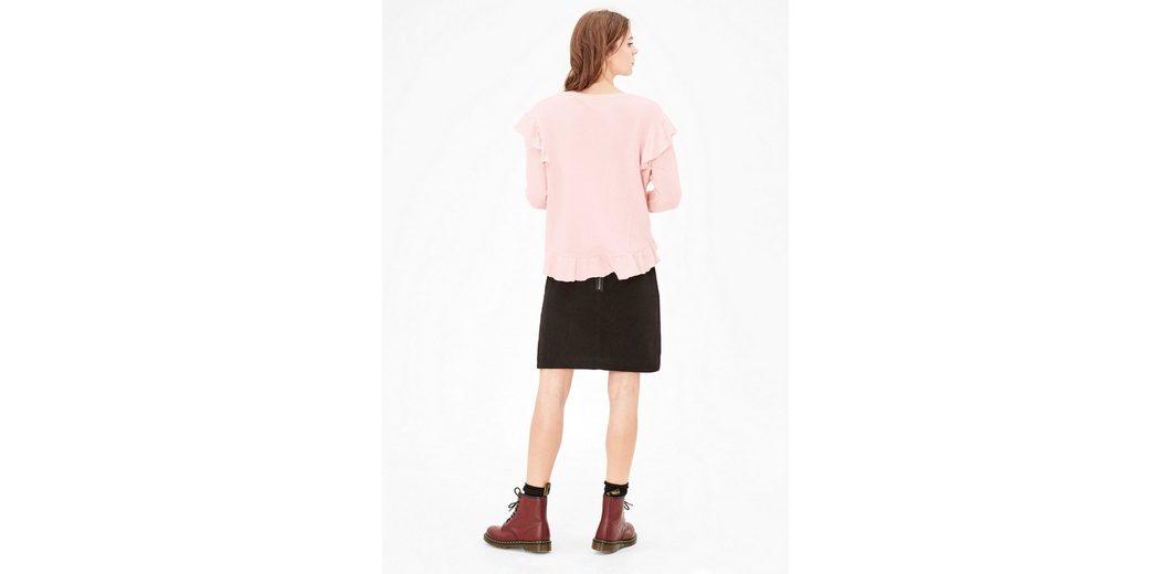 s.Oliver RED LABEL Sweatshirt mit Rüschen Freies Verschiffen Neuestes Für Billigen Rabatt Discount-Marke Neue Unisex Günstiger Preis Top-Qualität jOFtf8gpU