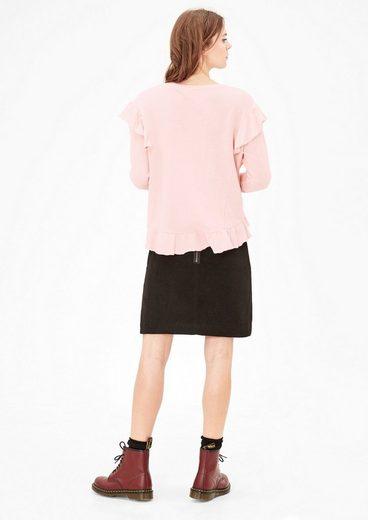 s.Oliver RED LABEL Sweatshirt mit Rüschen