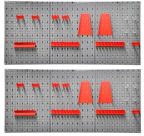 Gut bekannt KREHER Lochwand , 2 Werkzeugwände, inkl. Hakenset KT18