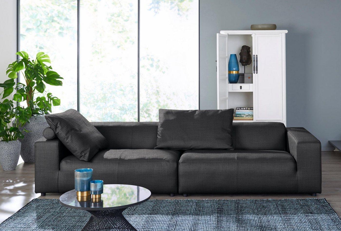 hülsta sofa 4-Sitzer »hs.432«, mit niedrigem Rücken grau  Polstermoebel