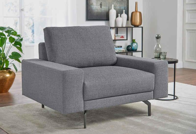 hülsta sofa Sessel »hs.450«, Armlehne breit niedrig, Breite 120 cm, Alugussfuß Umbragrau, wahlweise in Stoff oder Leder
