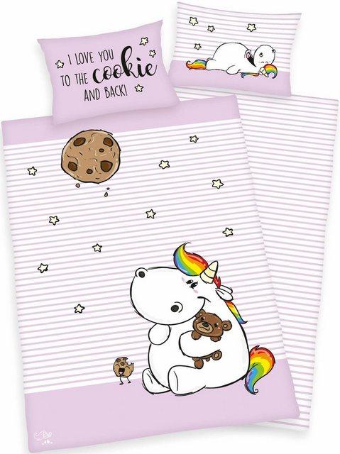Babybettwäsche »Cookie«, Pummeleinhorn, mit Motiv | Kinderzimmer > Textilien für Kinder > Kinderbettwäsche | Baumwolle | Pummeleinhorn