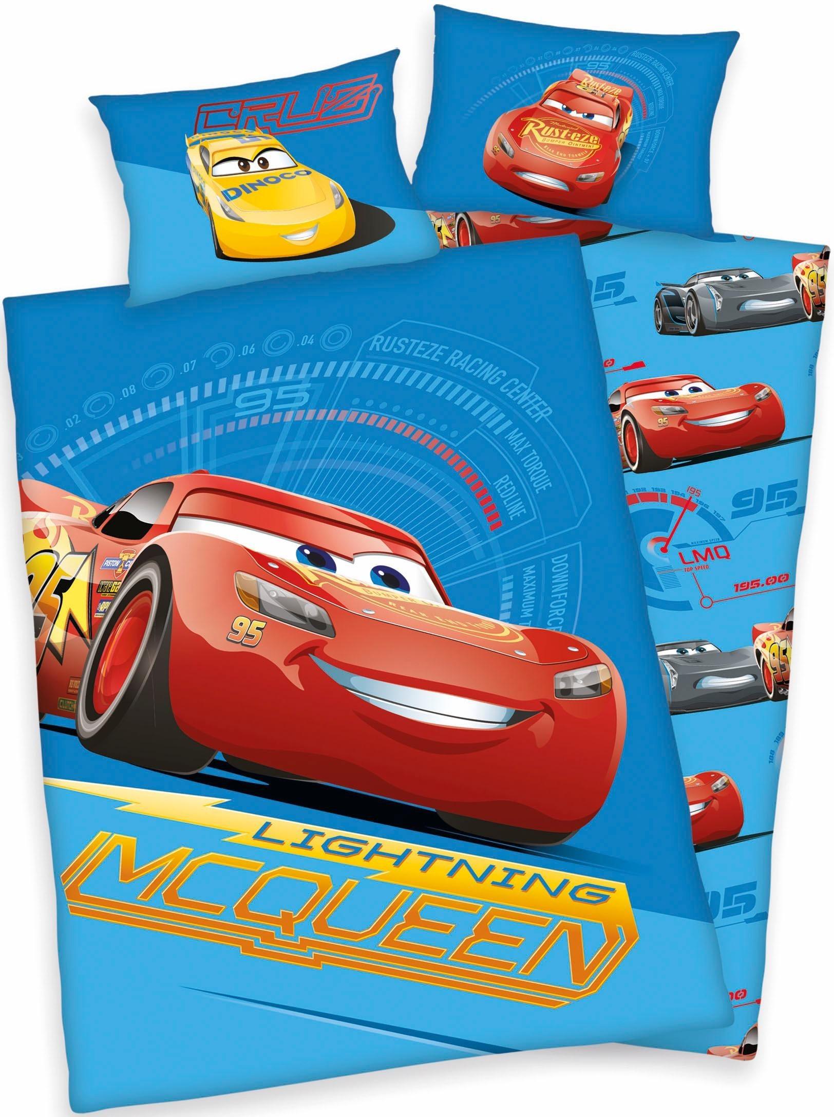 Babybettwäsche »McQueen«, Walt Disney, mit Motiv | Kinderzimmer > Textilien für Kinder > Kinderbettwäsche | Walt Disney