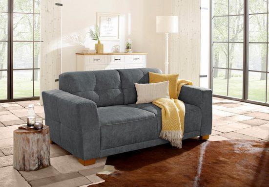 Home affaire 2-Sitzer »Mondea«, Federkern, Steppung im Rücken