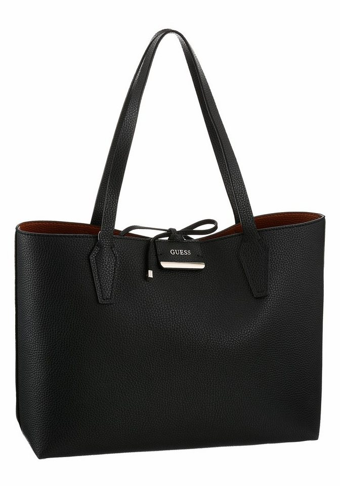 guess shopper bobbi inside out tote zum wenden mit. Black Bedroom Furniture Sets. Home Design Ideas