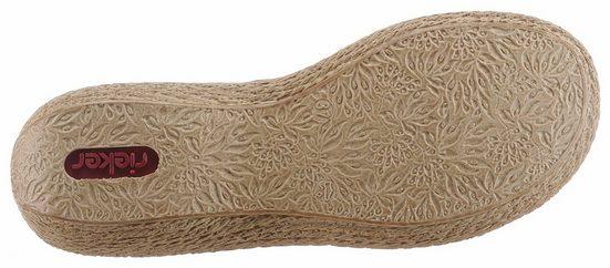 Rieker Pantolette, mit angesagter Blütenverzierung