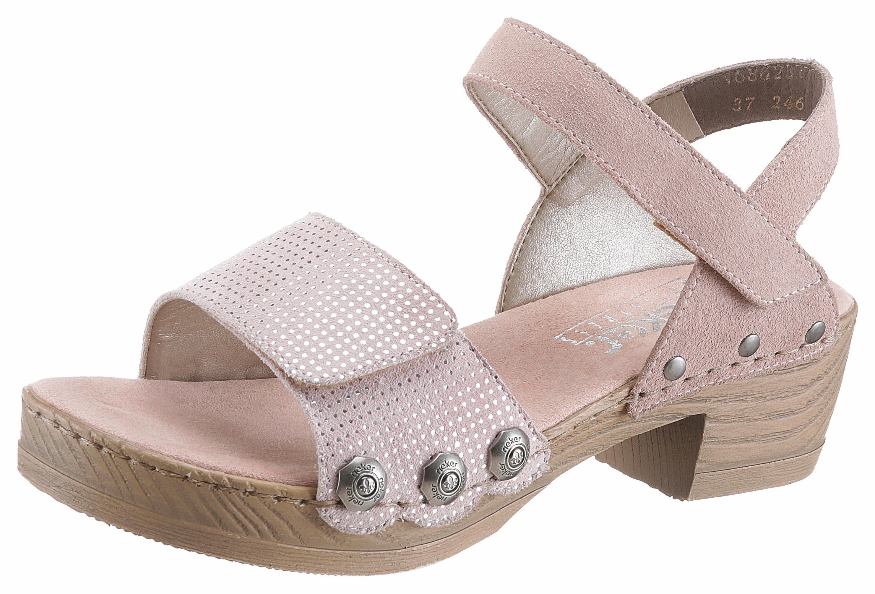 Rieker Sandalette, mit Nieten online kaufen  altrosa