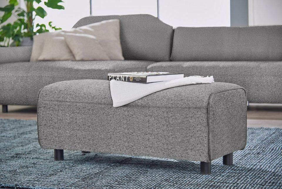 H lsta sofa hockerbank wahlweise in stoff oder for Polsterecke leder