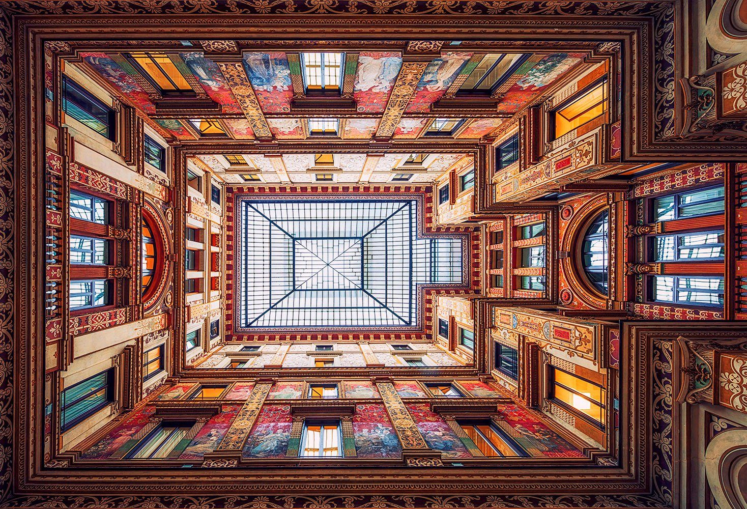 IDEALDECOR Fototapete »Galleria Sciarra Rome«