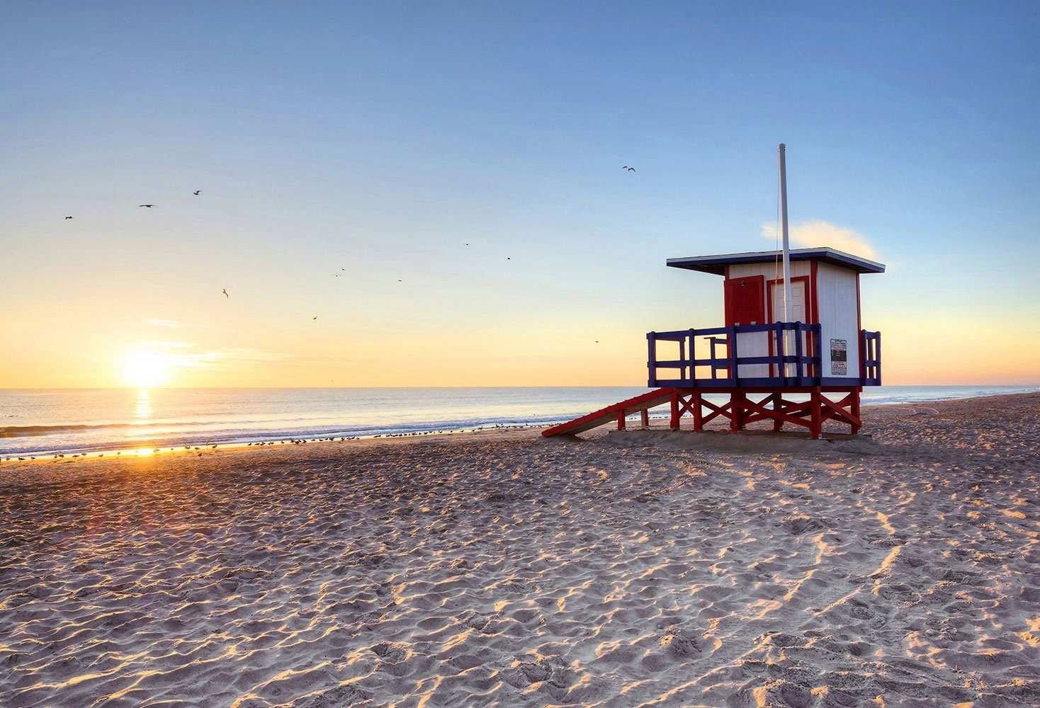 IDEALDECOR Fototapete »Cocoa Beach«
